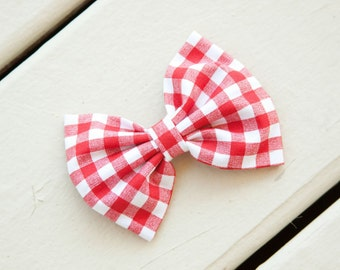 Red Gingham Picnic Bow