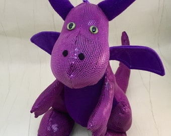 Dragon Soft Toy Sewing Kit, with Sewing Pattern. Stuffed animal, Plushie, Softie