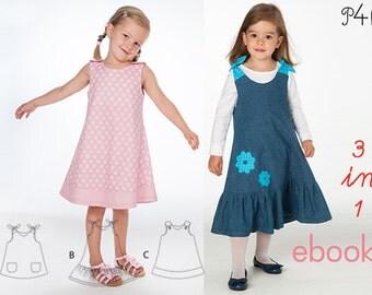"Baby dress pattern, girls dress sewing pattern, summer dress, one piece, tunic dress, ebook pdf pattern ""Steffi""+""Siena"" from Pattern4kids"