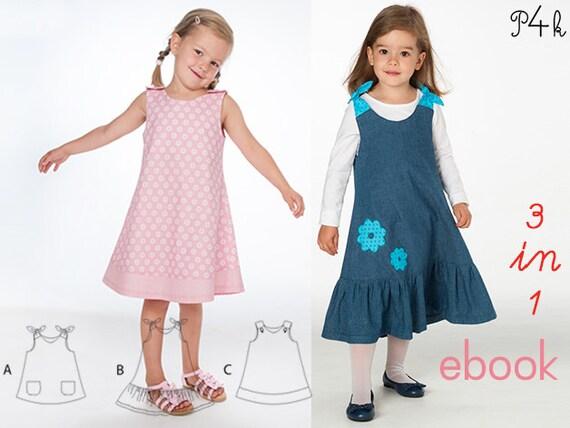 pattern4kids - Baby pinafore dress pattern, girls dress sewing ...