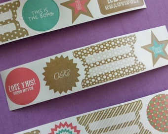 Stickers on a roll (12 designs)