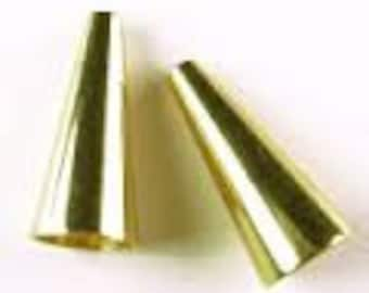 Cone - Gold-plated - 12x5mm with 3.5mm inside diameter - Pack 10