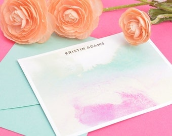 Custom Watercolor Stationery
