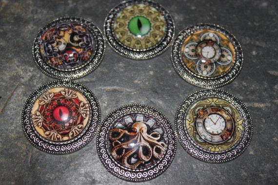 Steampunk Refrigerator Magnets