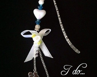 "Cute ""I do..."" Bookmark by silverlime2013 Wedding Gift"
