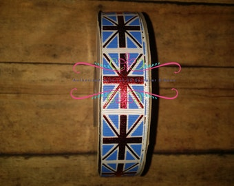 US Designer Ribbon London Flags