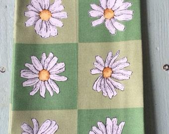 Vintage Daisy Napkins, Cotton Napkins, Daisy Linens, Green Napkins, Vintage Cotton Napkins, Daisy Cotton Napkins
