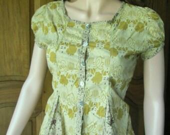 Sorcha pastel green blouse