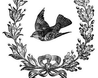 Vintage swallow - Temporary tattoo