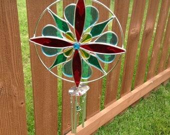 Kaleidoscope windchime suncatcher