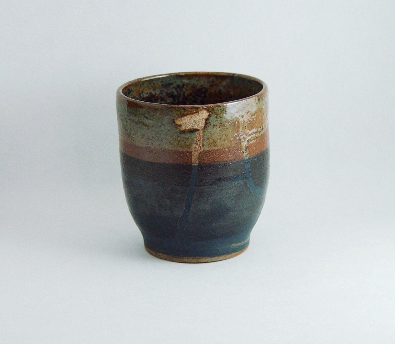 8 oz tumbler tea cup wine glass handleless mug by bwdartco - Handleless coffee mugs ...