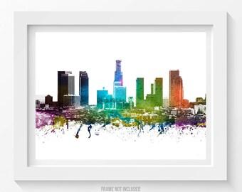 Los Angeles Poster, Los Angeles Skyline, Los Angeles Cityscape, Los Angeles Print, Los Angeles Art, Home Decor, Gift Idea 01