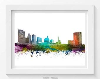 Toledo Poster, Toledo Skyline, Toledo Cityscape, Toledo Print, Toledo Art, Toledo Decor, Home Decor, Gift Idea 01