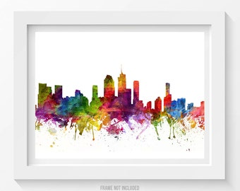 Brisbane Poster, Brisbane Skyline, Brisbane Cityscape, Brisbane Print, Brisbane Art, Brisbane Decor, Home Decor, Gift Idea 06