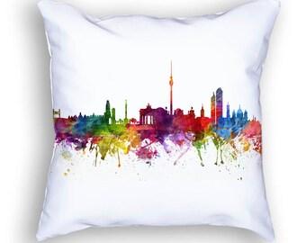Berlin Pillow, Berlin Skyline, Berlin Cityscape, Throw Pillow, 18x18, Cushion, Home Decor, Gift Idea, Pillow Case 06
