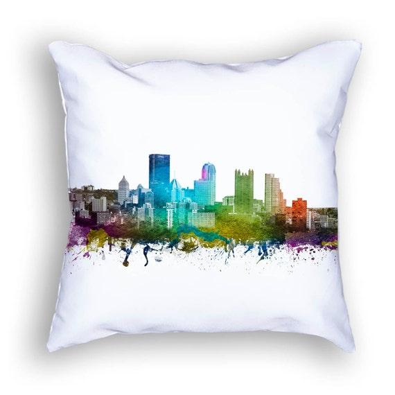 pittsburgh pillow 18x18 pittsburgh skyline pittsburgh