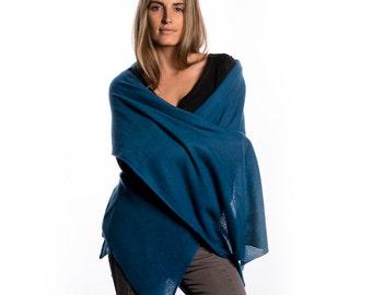 Teal Cashmere Wrap/Teal Blue 100% Cashmere Wrap/Blue Cashmere Wrap