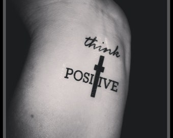 Wee learn think positive tattoos