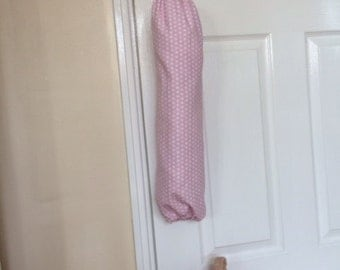 Shabby Chic Pink Spotty Carrier Bag Holder