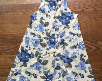 90s Flower Dress Short Minidress Sundress