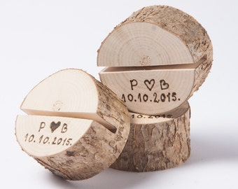 25 Personalized Rustic Wedding Table Number Holders Place Card Holder Name Tag