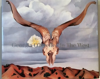 Georgia O'Keeffe In the West Very Large Art Book 1ST Edition in Org Box