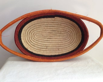 Hand Woven Sisal Basket - Oblong with Handles