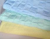 Knitted Baby Blanket, Baby Blanket Knit, Handmade Baby Blanket, Soft Yarn Blanket, Variety of Colors