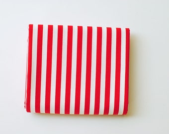 Candy Cane Stripe fabric | quilt binding, awning red and white stripes