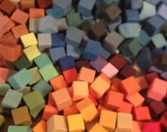 Handmade encaustic paints discounted collection of fifty separate colors (30ML) paint cubes PLUS encaustic medium