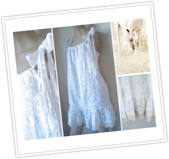 Ivory Lace Gypsy Dress Boho Lace Baby Doll dress Lace boho