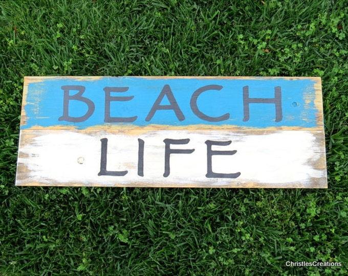 Beach Life Wood Pallet Art