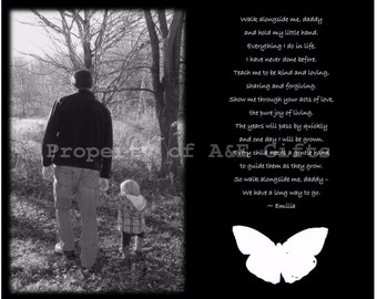 Personalized Gift, Gift for Dad, Gift for Him, Dad and Child Photo, Father's Day Gift, Gift for Him, Poem for Dad, Father and Child, Digital