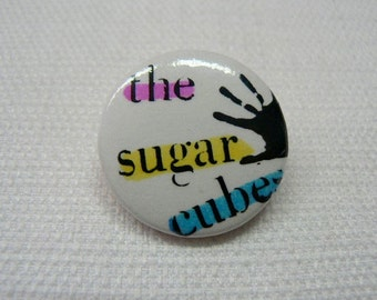 Vintage Late 1980s The Sugarcubes - Bjork - Coldsweat Single Promotional - Pin / Button / Badge