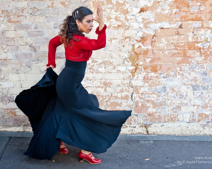 Black FISHTAIL Flamenco skirt
