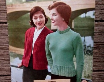 1950s PATONS KNITTING BOOK No. 500 Beehive Patonyle