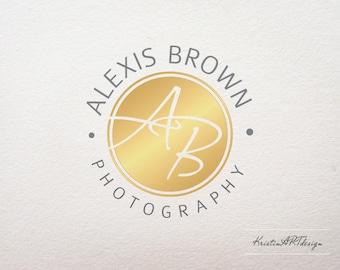 Initials Logo, Photography logo, Gold logo, Photography watermark, Stylish logo 200