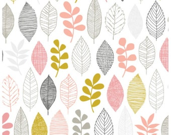 First Light Leaf Sampler Cloud 9 Organic Fabrics 15.5 INCHES End Of Bolt Fabric Piece