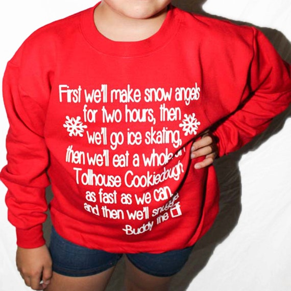 Youth Buddy The Elf Christmas Sweater For Kids. Buddy The Elf