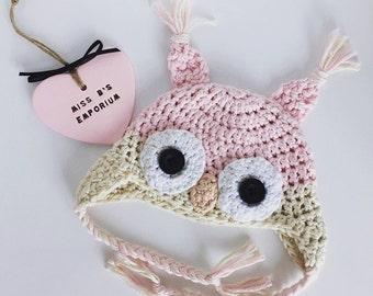 Crochet Owl Baby Hat Pattern