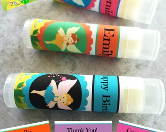 5Pc Fairy Birthday Party Favors/Girl Birthday Party/Fairy Party Favor/Fairies Party/Fairy Princess Chapstick/Fairy Chapstick/Girl