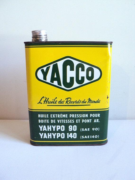 bidon d 39 huile yacco bidon d 39 huile ancien bidon de. Black Bedroom Furniture Sets. Home Design Ideas
