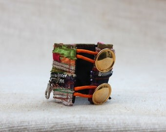 Unique Colorful Cuff, Boho, Color Bracelet, Cool Hipster, Gypsy Braceltes, Chic Jewelry, Zipper Jewelry, Eco Friendly Jewelry, Zipper Color