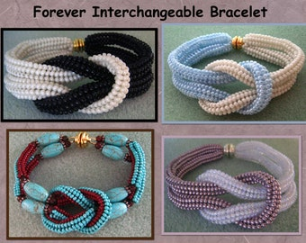 Forever Bracelet Tutorial! Interchangeable Colors Design