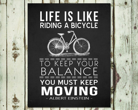 PRINTABLE ART Bicycle Wall Art Life Is Like Riding A Bicycle