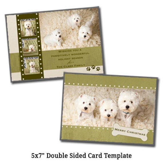 5x7 double sided christmas card template holiday card. Black Bedroom Furniture Sets. Home Design Ideas