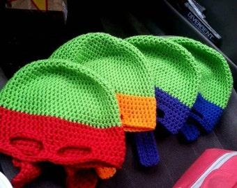 Child-size Ninja Turtle Style Hats