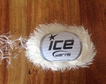 Cream eyelash yarn ice yarn eyelash blend