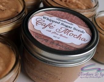 Cafe Mocha Scrub, Coffee Sugar Scrub, Whipped Sugar Scrub, Emulsified Scrub, Body Polish, Emulsified Sugar Scrub, Coffee Scrub, Body Scrub