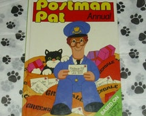 Postman Pat Official 1989 Annual TV Memorabilia Vintage Animated Television Series Collectable Hardback Book Royal Mail Greendale Cat Jess
